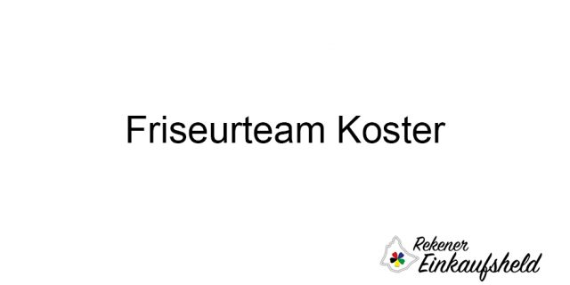 Friseurteam Koster
